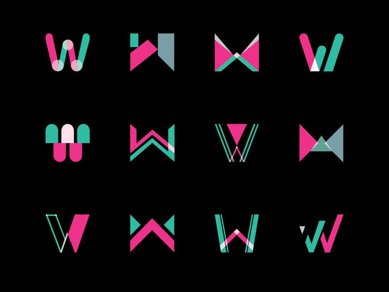 Letter W Logo/Icon Set identity design brand identity branding photoshop rebound ui designer graphic  design graphics ui icons design icons icon set letter design logo set logodesign logo letter w