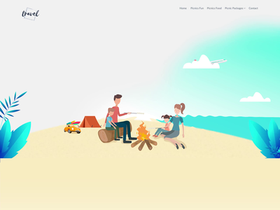 Holiday Travel Website landing page homepage design user interface user friendly ux designer india ui designer adobe photoshop text animation holiday travel website app development animation design animation after effects website animation animation web development company web design design ui