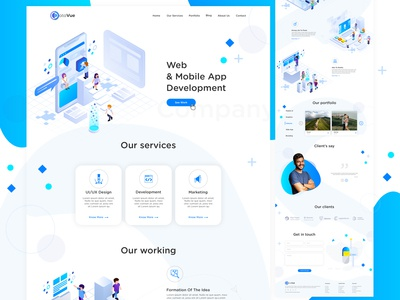 Web and App Development Company Design
