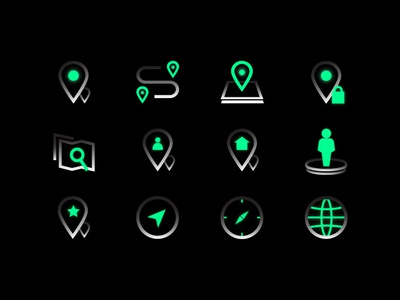Map Icon Set photoshop ui kit globe mapping search map icon icon design iconography icon set direction speed location tracker locator location gps tracker maps design ui
