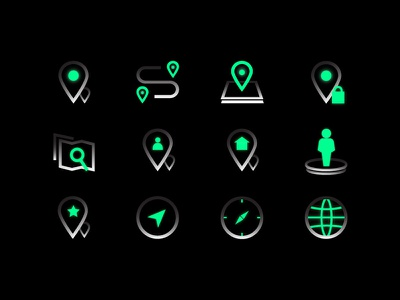Map Icon Set photoshop ui kit globe mapping search map icon icon design iconography icon set direction speed location tracker locator location gps tracker maps design ui