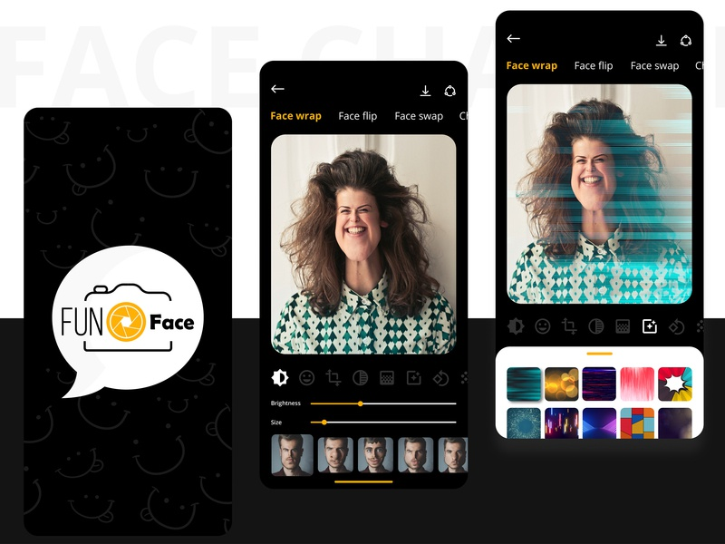 Funny Face App by CMARIX TechnoLabs on Dribbble