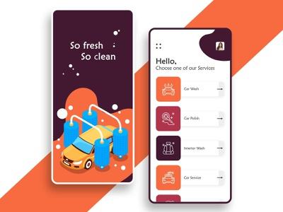 Car Wash App app developer mobile app design uiux uidesign ui ui designer app designers photoshop dribbble app development app concept app design