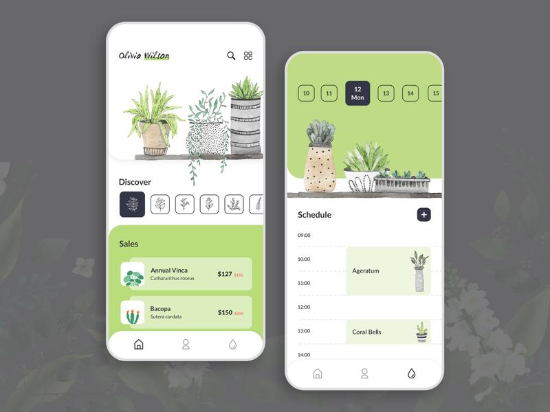Plantation App adobe photoshop tree plants planter plantation creation ui app designer ux app concept app app development app design design