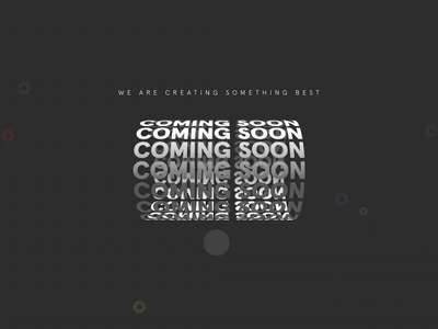Coming Soon Animation product launch web development services web development company uiux animation design after effects animation home page design landing page website designer website design coming soon page ux animation design ui