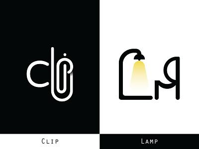 Logo Of  Clip & Lamp vector illustration adobe photoshop sketch web designer web design agency design company app development company logo a day icon design logo designer lamp clip logos logo design design ui