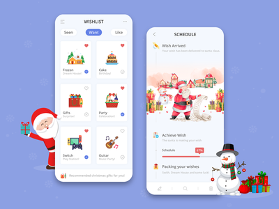 Santa Wishlist App designers india app development company photoshop design ui app designer app app concept app development app design gift app secret santa