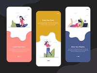 Onboarding Music App Screens