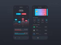 Banking App Dark Mode UI