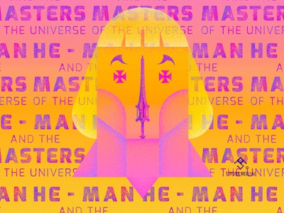 He-Man and the Masters of the Universe movie illustrator graphic comix minimal superhero illustration man hero simona merlini he man masters of the universe he-man heman