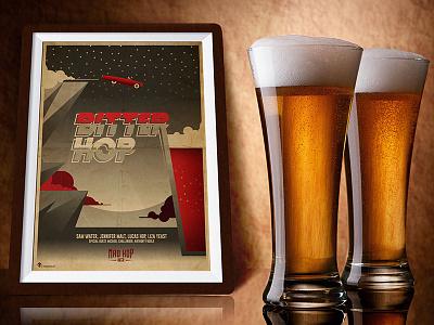 Bitter Hop Beer Illustration pub photoshop illustrator film cinema graphic thelma louise movie poster illustration beers beer