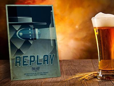 Ripley Beer Poster minority report illustrator photoshop illustration design graphic pub beers beer film movie
