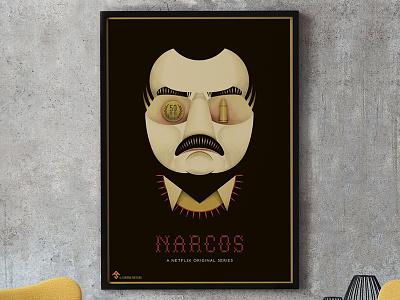 NARCOS Netflix Original Series Alternative Poster poster movie web series series graphic illustration alternative poster plata o plomo pablo escobar narcos netflix