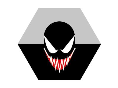 Guess Who? 12 superhero minimal vector hexagon mudule comix film manga cartoon venom