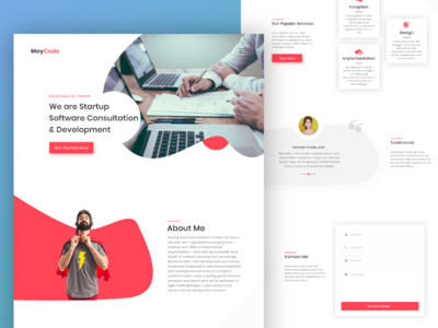 Startup Software Consultation & Development Landing Page