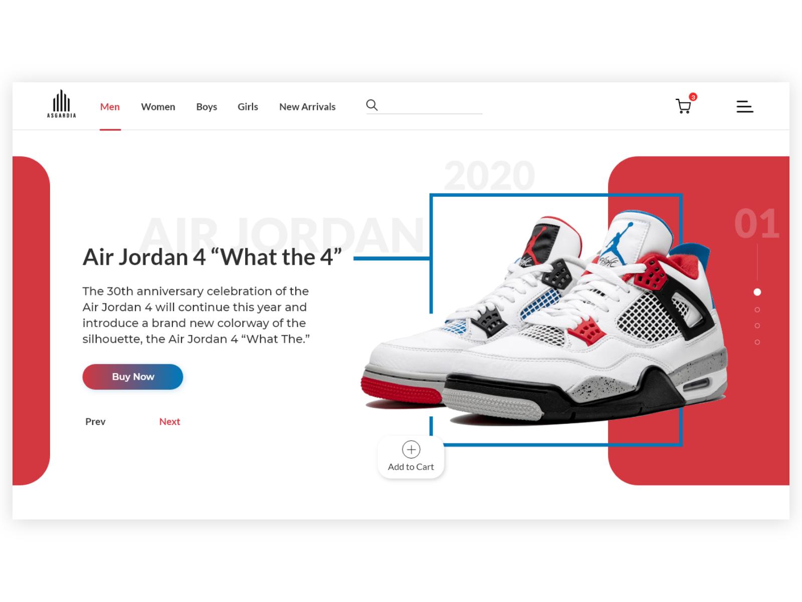 NIKE Air Jordan Web Design by Ayoub