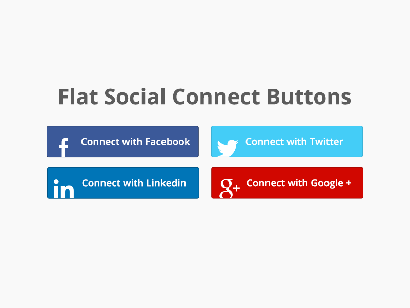 Flat Social Connect Buttons - Free Download buttons flat free download connect social user interface psd