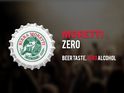 Moretti Zero - Beer Advertising elegant fresh white red modern youth moretti beer branding print design advertising graphic design
