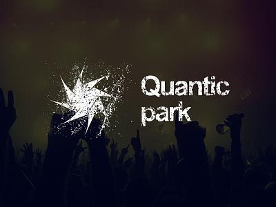 Quantic Park - Logo Design logo logo design modern clean graphic design branding identity brand white music