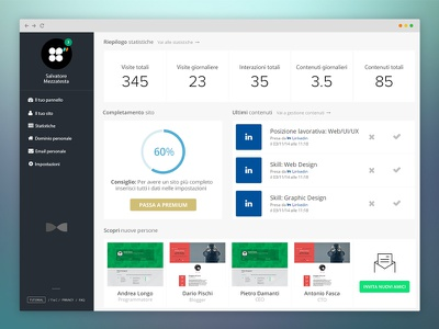 Domee Dashboard dashboard user interface flat design clean minimal ui user experience ux web design design stats panel