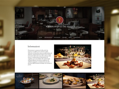 Le Tre Spade Restaurant website web design template restaurant elegant modern photography user interface