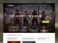 Crytek Homepage Design