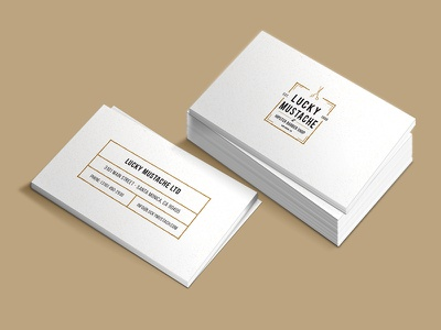 Hipster Business Card beige white vintage clean mockup business card hipster