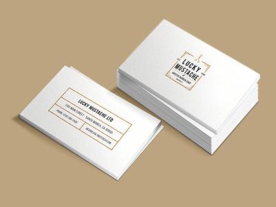 Hipster Business Card beige white vintage clean mockup business card hipster