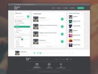 Online Radio Website - User Interface
