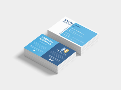 My brand new Business Card mockup clean flat business card