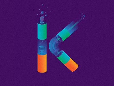 K alphabets illustration design