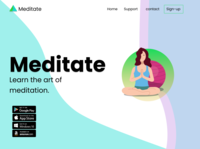 Meditate graphic design illustrator ui design ux design mockups webapp webdesign website uiux design ux ui
