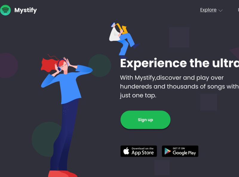 Mystify webapp website ux design ui design ux ui