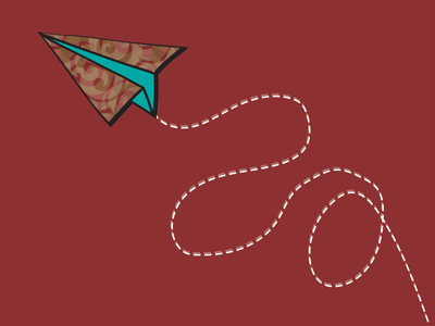 Paper Plane wood dot red airplane paper plane illustrator