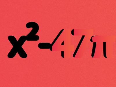 x²-47π pi physics math orange motion artist flat design graphic design illustration