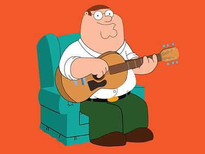 Peter Griffin recreation lois meg brian stewie guitar sitcom star world cartoon family guy peter griffin