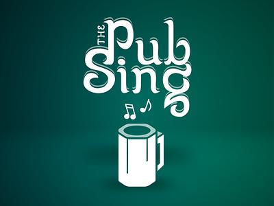 Pub Sing Logo music mug pub app logo