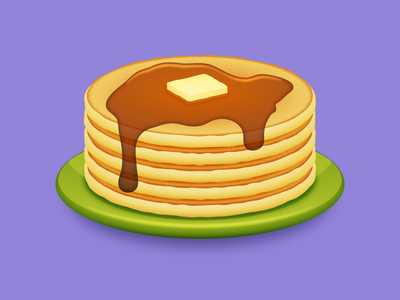 Full Stack (of Pancakes) butter syrup pancakes