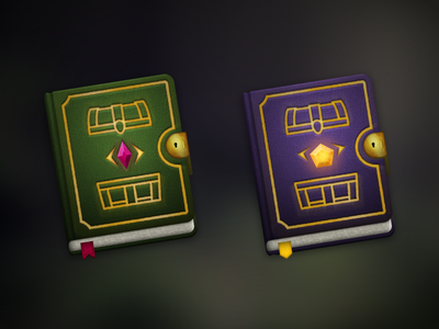 Magic Stash Icons magic tome book icon