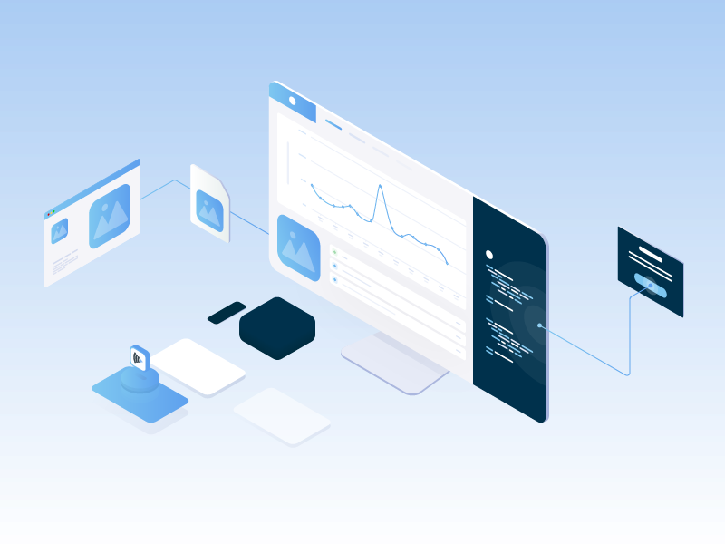 tvOS Features Illustration vector ui svg isometric web design illustration