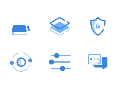 Animated Icons outline blue animated icon illustration svg design