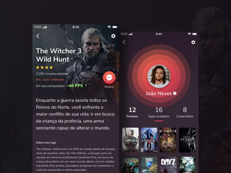 Game App iphone x purple red game gamedesign uxdesign ux uidesign app appdesign dark ui dark ui design