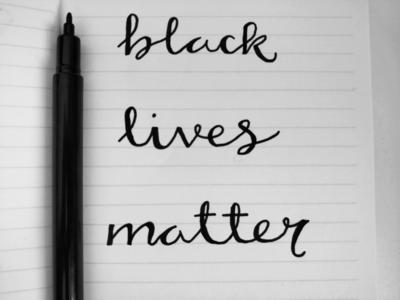 Black Lives Matter faux lettering support justice hand lettering lettering blm black lives matter