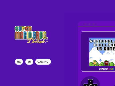 SUPER MARIO XD GAME console gameboy gaming game ui mariobros mario super mario adobe xd