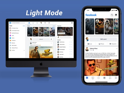 Facebook Redisgn Concept Light Mode