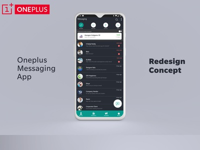 OnePlus Messaging Redesign Concept