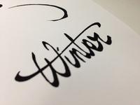 Winter lettering