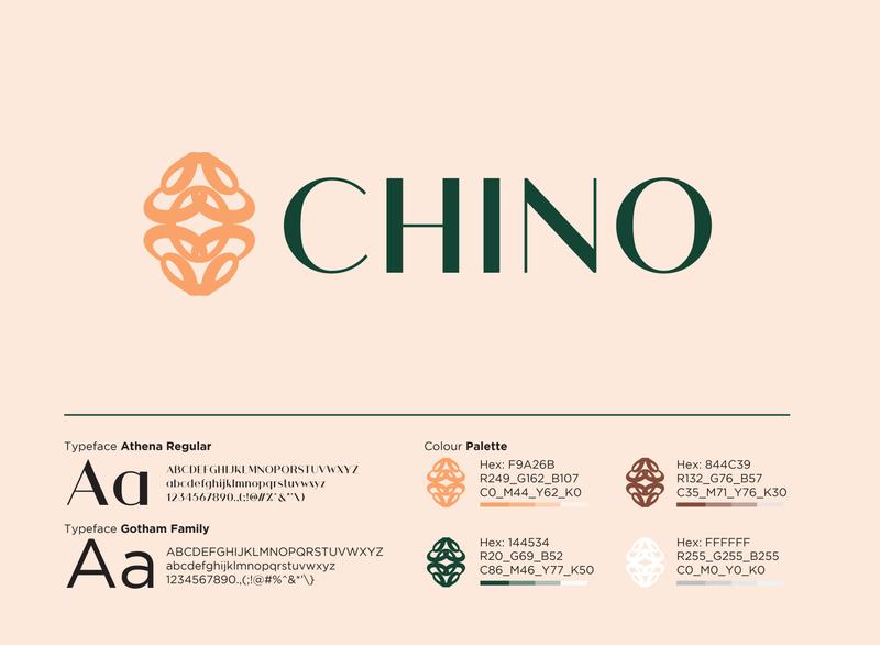Chino - Brand Identity Design brandcollaterals casestudy ghanadesign brandidentity branddesign brandidentitydesign logo brandwithtnf brandcasestudy branding