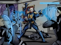 Elite II Comic Spread Page