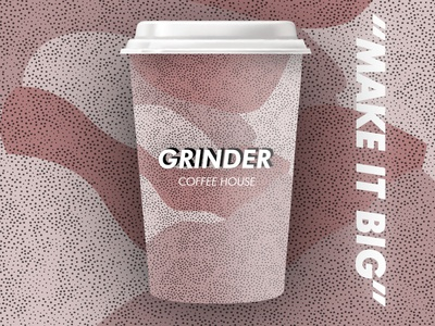 Grinder Coffee House Cups
